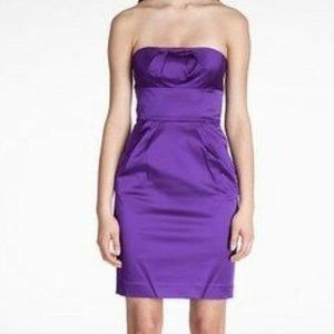 New DVF O Violet Fiorenza Strapless Party Dress